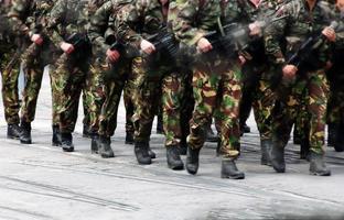 militär parad foto