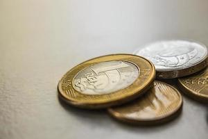 brasilianska mynt foto