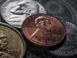 mynt och valuta sedlar