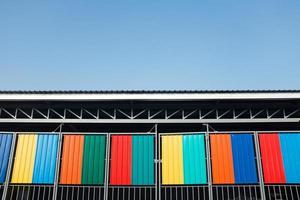färgsamling av rostfritt stål foto