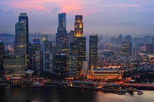 affärs centrum i singapore foto