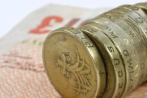 ett pund mynt foto