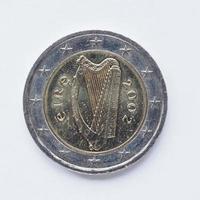 irländska 2-euromynt foto