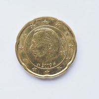 belgiska 20 cent mynt foto