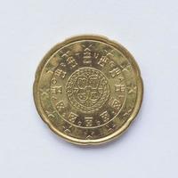 portugisiska 20 cent mynt foto