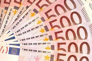 sedlar på 500 euro foto