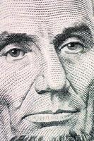 ansiktet på makro för dollarräkningen foto