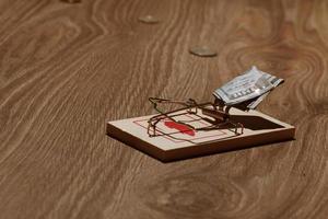 mousetrap med dollar foto