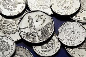 mynt av Kuba. kubansk konvertibel peso foto