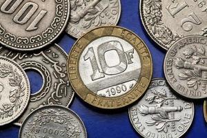 mynt i Frankrike foto