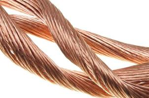 koppartrådar, symbol för kraftenergiindustrin foto