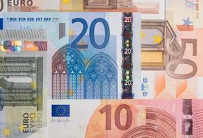 10, 20 och 50 euro sedlar foto