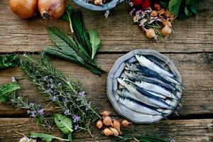 färska sardiner foto