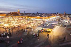 jamaa el fna i marrakesh foto
