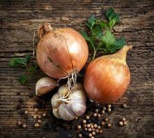 naturliga grönsaker och kryddor foto