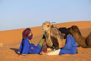 öken och beduiner foto