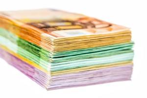 många olika eurosedlar foto