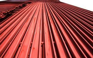 rött stål. foto