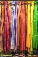 serie av pashminer av siden foto