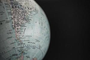 globo terráqueo, américa del sur foto