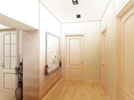 modern designinteriör i korridoren. 3d framför foto