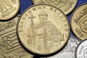 mynt från Ukraina foto