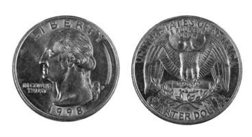 ett kvarts mynt foto