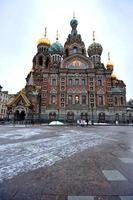 Frälsarens kyrka på spillt blod, St. petersburg, ryssland foto