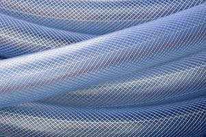 blå plast slang bakgrund foto