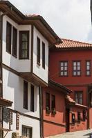 historiska byggnader i odunpazari eskisehir foto