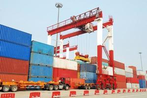 port containergård foto
