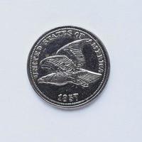 gamla us 1 cent mynt foto