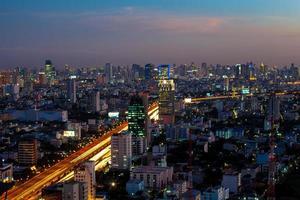 skymning stadsbild foto