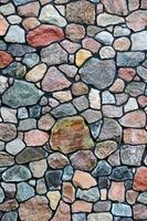 färgstark stenmur foto
