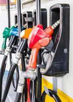 bensinpumpens fyllning foto