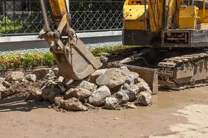 vägkonstruktion i Thailand foto
