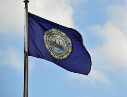 ny hampshire flagga foto