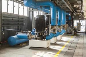 blå pump foto