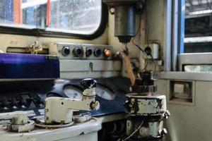 cockpit av thai tåg