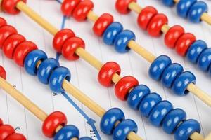 abacus på graf foto