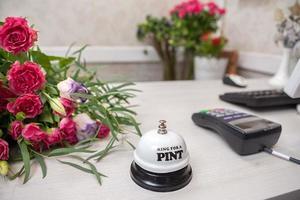 räknare på blomsterbutiken foto