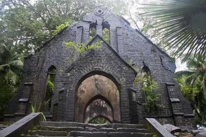 ruin av övergivna kyrkan foto