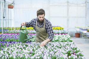 ung blomsterhandlare foto
