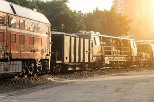 järnvägsvagnar foto