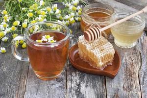 te med honung foto