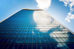 skyskrapor i staden London. foto