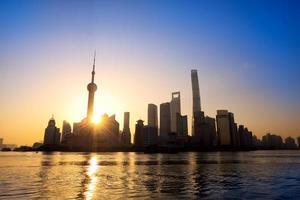 shanghai vid soluppgången foto