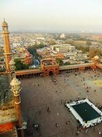 gård av jama masjid, delhi foto