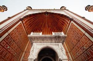 jama masjid moské, gamla delhi, Indien foto