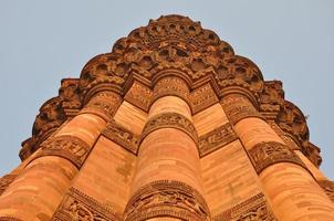 qutab minar i Delhi, Indien foto
